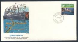 New Zealand Neuseeland 1980 FDC + Mi 802 YT 772 SG 1223 - Lyttelton Harbor - Large Harbors / Hafen Von Lyttelton - Transportmiddelen