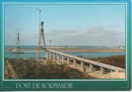 Le Pont De Normandie En Construction Sur L Estuaire De La Seine  Entre Honfleur Et Le Havre - Frankrijk