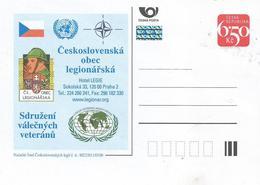 Czech Republic 2003 Czech Veteran Association Military Peacekeeping Hologram Postcard - Postwaardestukken