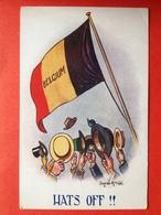 Illustrateur DONALD MC GILL - BELGIUM - HATS OFF ! - PATRIOTIQUE - Guerre 1914-18