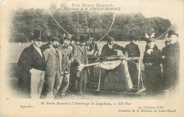 MONTGOLFIERE - EXPERIENCE DE SANTOS DUMONT - ATTERISSAGE à LONGCHAMP - PRIX HENRY DEUTSH - COMTESSE D'EU - Montgolfières