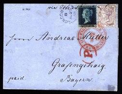 A5961) UK Cover London 08/25/58 To Grafengehaig / Germany With Mi.14 Ao. - 1840-1901 (Viktoria)