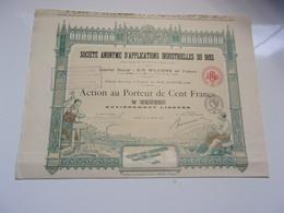 APPLICATIONS INDUSTRIELLES DU BOIS (1918) - Non Classés