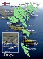 Faroe Islands Map New Postcard Färöer Landkarte AK - Féroé (Iles)