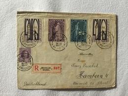 K6 Belgien 1928 R-Brief Von Brüssel Nach Hamborn Orval - Belgien