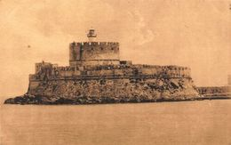 Greece Rodi Rodos Forta Di S Nicola Fortress Tower Lighthouse Postcard - Grèce