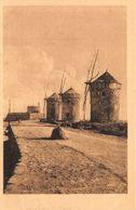 Greece Rodi Rodos Molo E Mulini Del Forte Di S. Nicola Wind Mills Postcard - Grèce