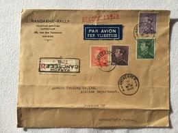 K6 Belgien 1938 R-Brief Von Antwerpen Nach Bombay Indien!!!! - Belgien