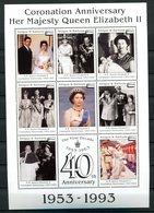 Thème Général De Gaulle - Antigua & Barbades - Bloc Neuf Xxx Yvert 1593 - Avec La Reine D'Angleterre - De Gaulle (General)