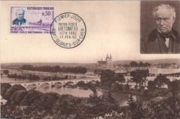 FDC24 - FRANCE N° 1328 Sur Carte Maximum Pierre Fidèle Bretonneau 1962 - 1960-69