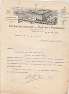 Allemagne Facture Lettre Illustrée 30/5/1908 FRISTER & ROSSMANN Nähmaschinen BERLIN - Allemagne
