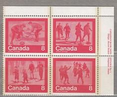 CANADA 1974 Blockx4 Corner MNH(**) Mi 570-573 #23967 - 1952-.... Règne D'Elizabeth II