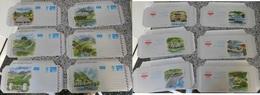 GRAN BRETAGNA  1989 Lotto Di 6 Aerogramme Vedute Con Cartoncino Di Presentazione Nuovi** Perfetti - Interi Postali