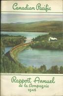 CANADIAN PACIFIC RAILWAY COMPANY - RAPPORT ANNUEL DE LA COMPAGNIE 1946 - COURBE DE JACK FISH ONTARIO - Ferrovie & Tranvie