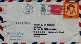 1958 , CUBA , SOBRE CIRCULADO , HABANA - YERRES, FR. BÁSICA , BOXING , BOXEO - Cuba