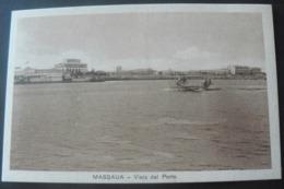 RARE NEW  POSTALCARD OF THE PORT OF MASSAUA ..//...RARA CARTOLINA  NUOVA DEL PORTO DI MASSAUA - Erythrée