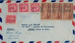 1959 , CUBA , SOBRE CIRCULADO , HABANA - YERRES , FR. BÁSICA , AVIÓN EN VUELO - Cuba