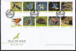 Isle Of Man MNH** 2019 Stamp Bird Vogel Set Of 6 FDC - 2019