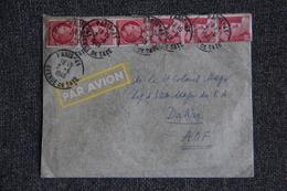 Timbre Sur Lettre De PARIS Vers DAKAR (SENEGAL) - N° 676 X 3 Et N° 621A X 3. - France
