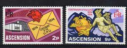 ASCENSION, 1974, UPU Centenary 2v    MNH - U.P.U.