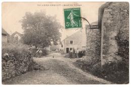 25 VILLERS GRELOT - Le Haut Du Village Animé - Cpa Doubs - Altri Comuni