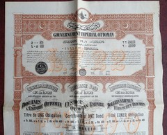 Gouvernement Impérial Ottoman . Obligation Privilégiée De 500 F , 4% De 1902 . Turquie . Douanes . Constantinople 1903 . - Autres