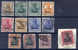 ETAPPENGEBIET WEST 1916 Set Of 10 To 1 Fr. On 80 Pf. Used.  Michel 1-10 - Occupazione 1914 – 18