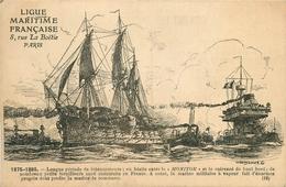 """LA MARINE FRANCAISE - 1875-1895 - LE """"MOLITOR"""" + CUIRASSE - MARINE à VAPEUR - Bateaux"""