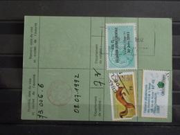 D2 - Timbres Fiscaux Sur Permis De Chasse 1992 - Delivré à 73 - Aime - Timbre Deffectueux - Steuermarken
