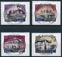 1687-1690 Bahnhöfe Mit Passendem ET-Vollstempel ZWEISIMMEN, HUTTWIL, POSCHIAVO Und FLEURIER - Schweiz