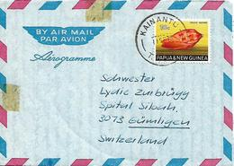 PAPUA NEW GUINEA 1973 AEROGRAMM Sent To Gumligen 1 Stamp COVER USED - Papouasie-Nouvelle-Guinée