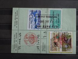 D2 - Timbres Fiscaux Sur Permis De Chasse 1995 - Delivré à 73 - Aime - Timbre Grand Gibier - Revenue Stamps