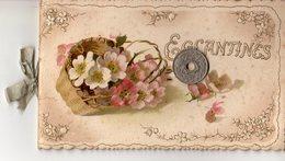 Christmas Cart -1904 - Fleur Églantines Petit Carnet De Poème - éditeur F.Killinger Zurich Suisse - Killinger Et Faivre - Vieux Papiers