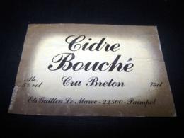 Etiquette Cidre Cider Cidre Pomme Apple Cidrerie Cru Breton Guillou Le Marec 22500 Paimpol - Etiketten