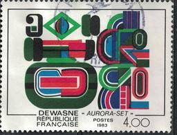 France 1983 Oblitéré Used Jean Dewasne Peinture Aurora Set Y&T 2263 SU - France