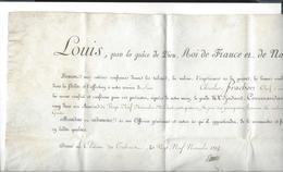 LOUIS XVIII Nomination Frachon Adjudant Commandant  29 Novembre 1814 Signé Louis  - Mal Duc De Dalmatie ( Soult ) - Documents Historiques