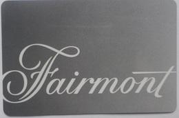 Fairmont Hotel Keycard - Cartes D'hotel