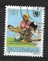 BOTSWANA   1987 UNICEF Child Survival Campaign     Used   Growth Monitoring - Botswana (1966-...)