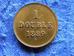 GUERNSEY 1 DOUBLE 1889, KM10 - Guernsey