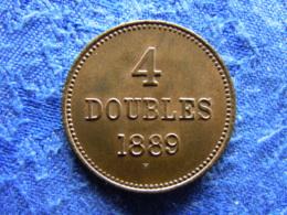 GUERNSEY 4 DOUBLES 1889, KM5 - Guernsey