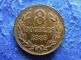 GUERNSEY 8 DOUBLES 1889, KM7 - Guernsey