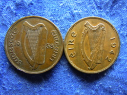 IRELAND 1 PENNY 1933 KM3, 1942 KM11 - Irlande