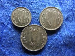 IRELAND 3 PENCE 1928 KM4, 6 PENCE 1928 KM5, 1 SHILLING 1962 KM14a - Irlande