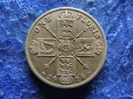 GREAT BRITAIN 1 FLORIN 1914, KM817 - Sonstige