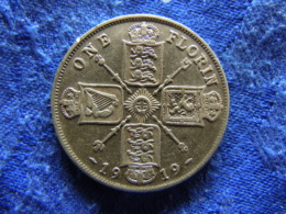 GREAT BRITAIN 1 FLORIN 1919, KM817 - Sonstige