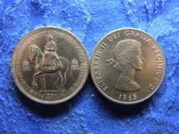 GREAT BRITAIN 1 CROWN 1953 KM894, 1965 KM910 - 1902-1971 : Monnaies Post-Victoriennes