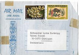 PAPUA NEW GUINEA 1984 AEROGRAMME Sent To Gumligen 2 Stamps AEROGRAMME USED - Papouasie-Nouvelle-Guinée