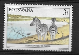 BOTSWANA  1987 Animals Of Botswana     Used   Burchell's Zebra (Equus Burchelli) - Botswana (1966-...)