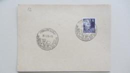 SBZ: Karte Mit 6 Pfg G. Hauptmann Köpfe I EF Mit Stempelabschlag DESSAU Deutschlandtreffen Der Jugend 26.5.50 Knr: 213 - Zone Soviétique