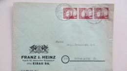 SBZ: Brief Mit 8 Pfg Köpfe I Senkr. Streifen Aus Eibau (Oberlausitz) 3.12.48 Nach Schwepnitz Knr: 214 (3) - Zone Soviétique